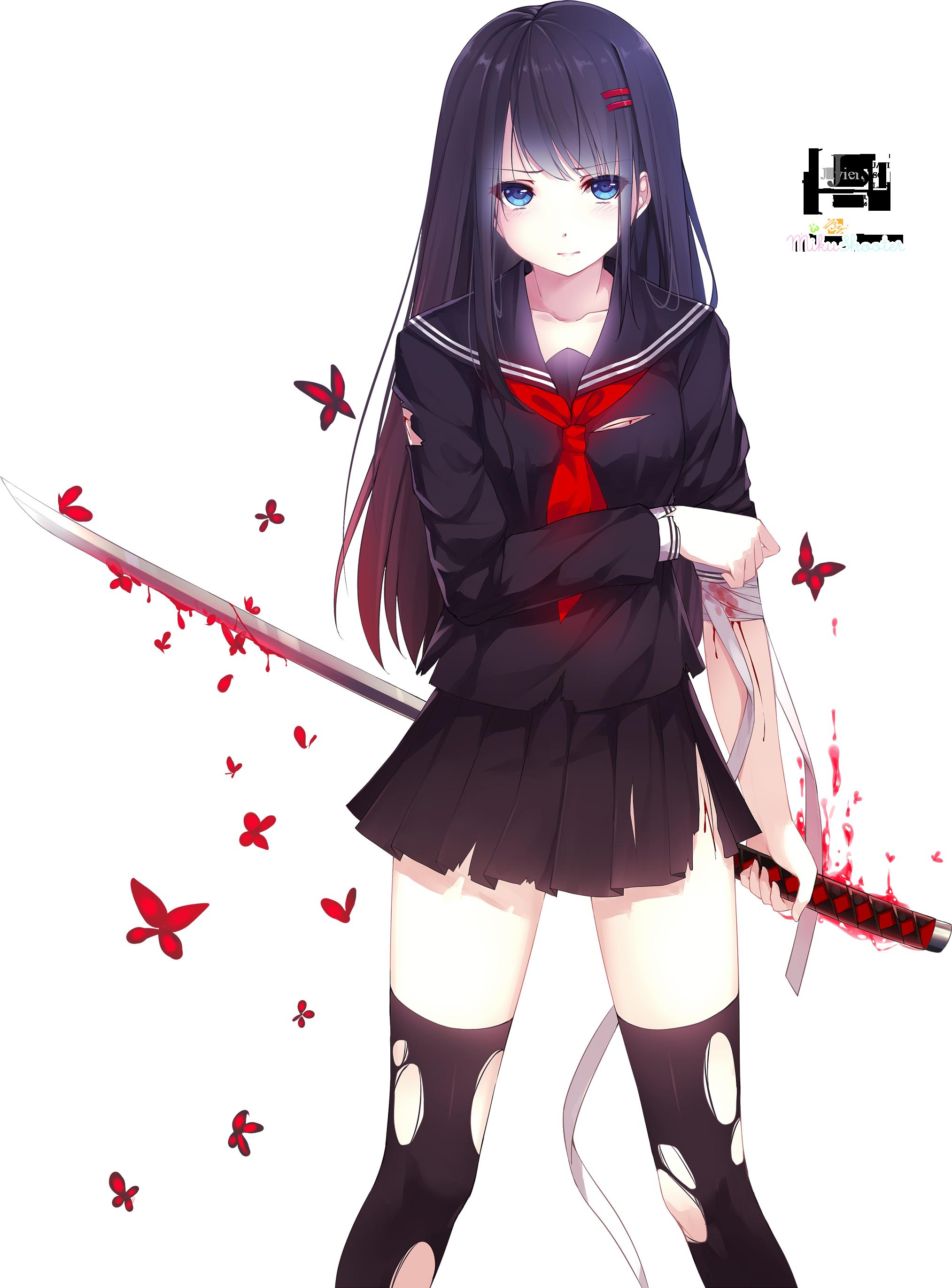 Download Anime Girl HQ PNG Image | FreePNGImg