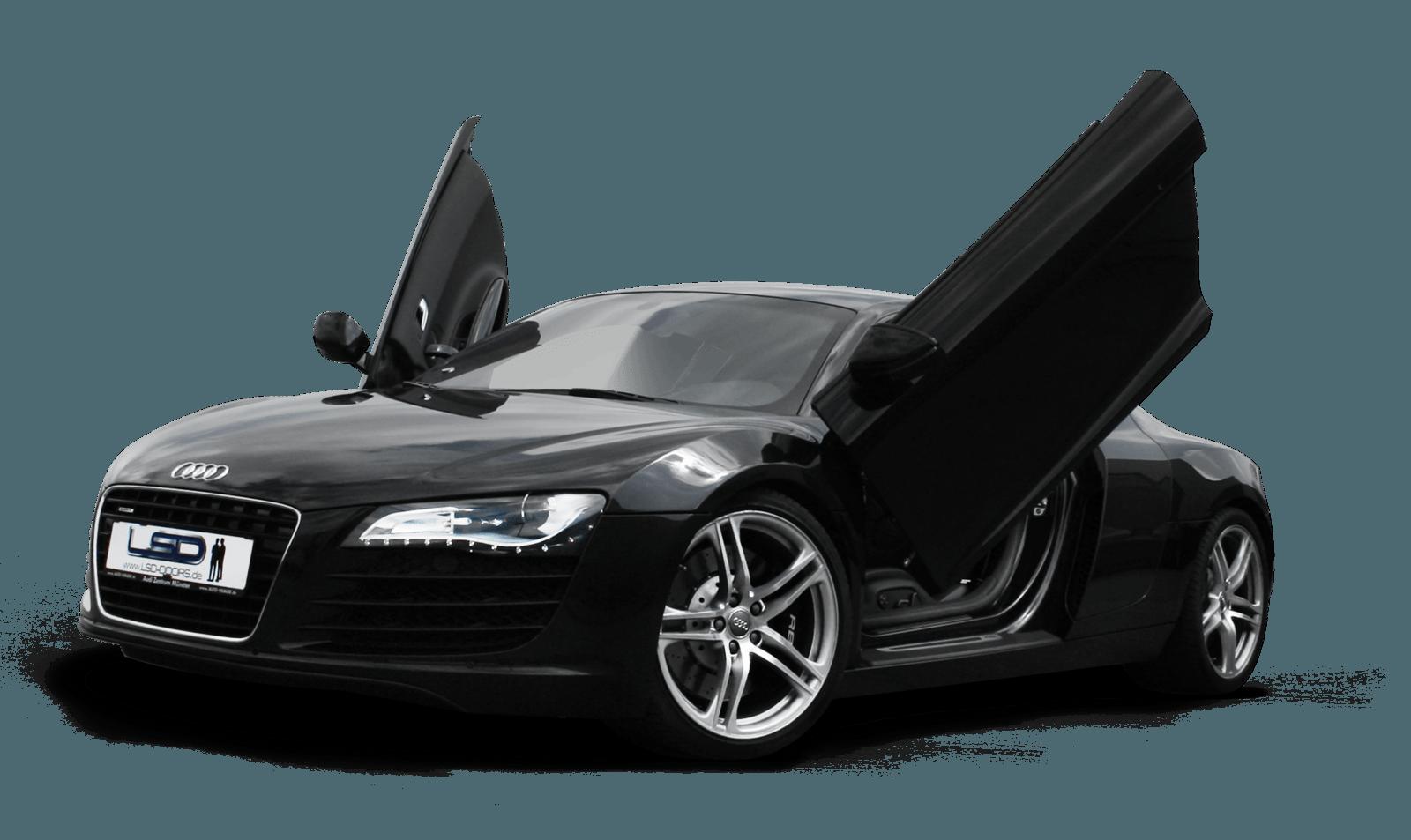 Black R8 Audi Png Car Image PNG Image