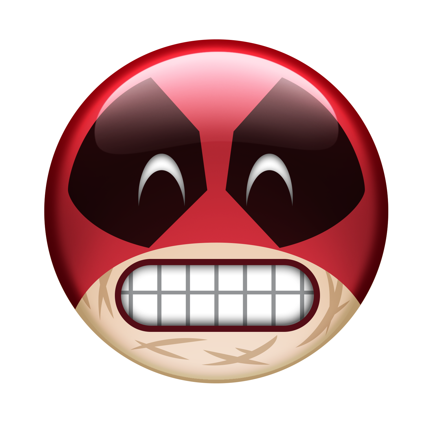 Smile Deadpool Mouth Film Emoji HD Image Free PNG PNG Image