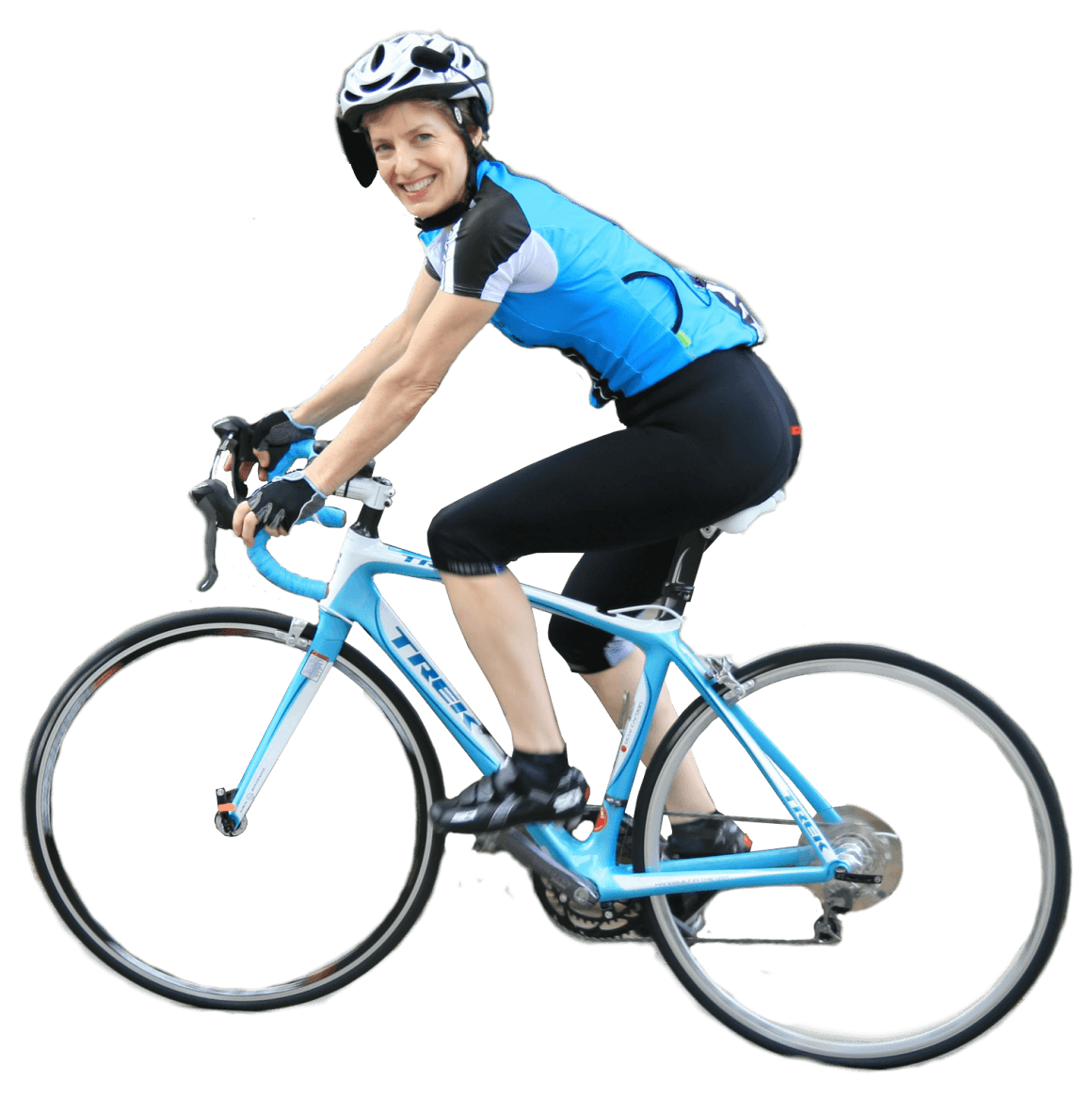Woman On Bicycle Png Image