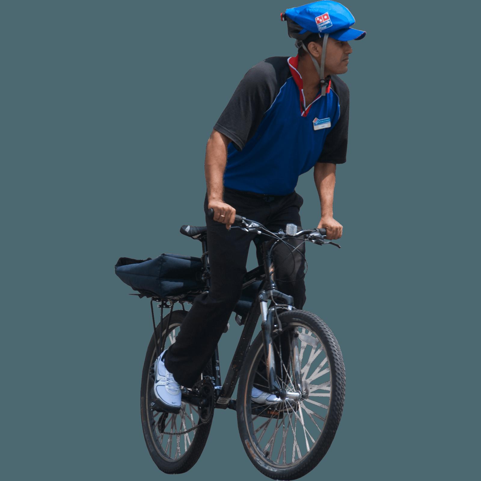 Man On Bicycle Png Image