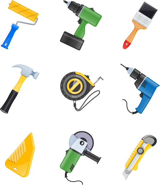 Building Vector Tool Material Construction Tools Icon PNG Image