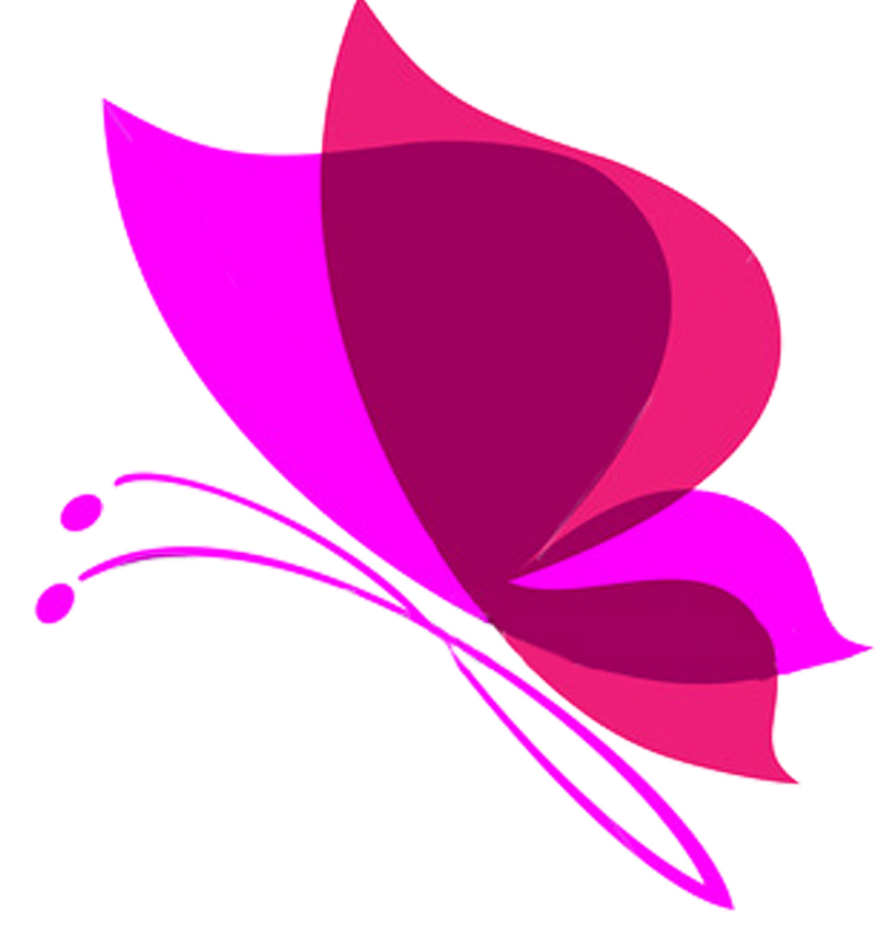 Pink Butterfly Transparent Background