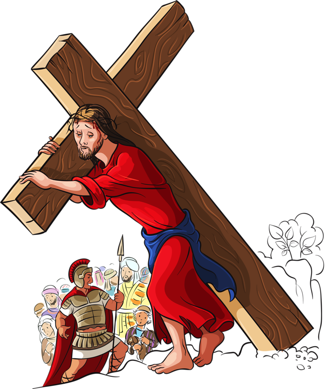 Of Photography Cross Illustration Jesus Carry The PNG Image