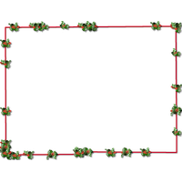 Christmas Border Transparent Picture PNG Image