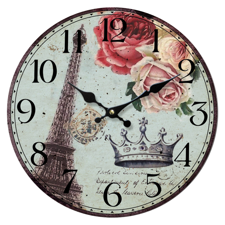 Download Vintage Clock Transparent Background HQ PNG Image