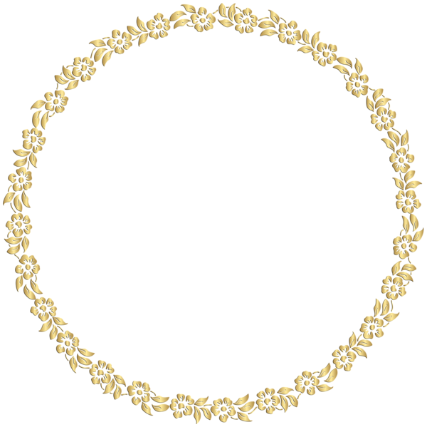 Download PNG image - Golden Round Frame Image 459