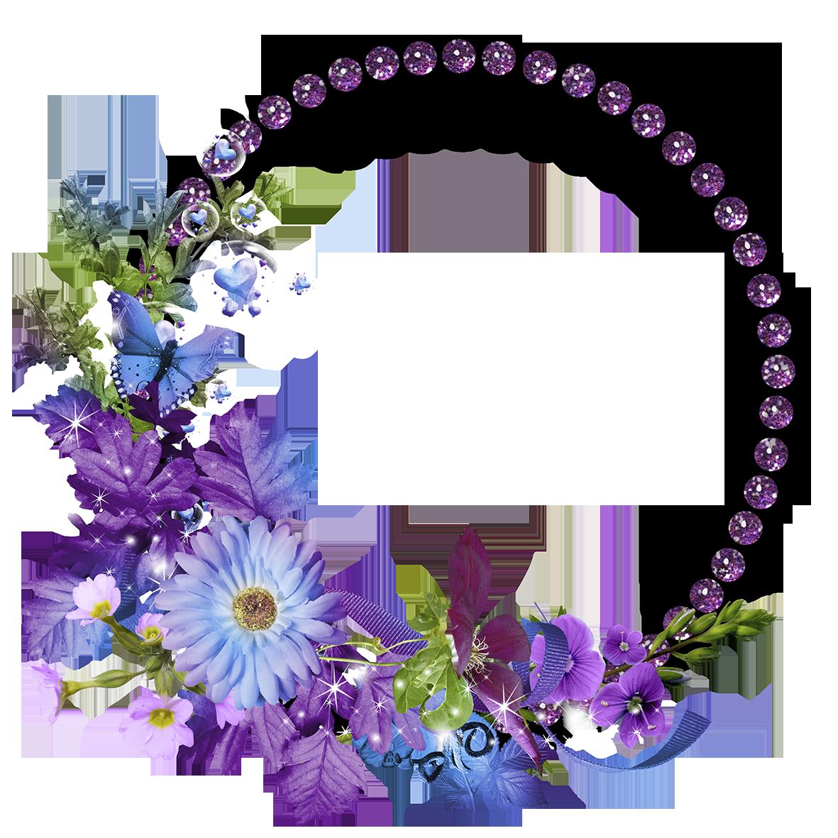 Download Floral Round Frame Transparent Image HQ PNG Image