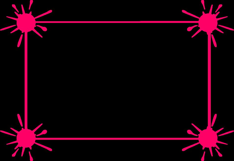Pink Border Frame Transparent PNG Image