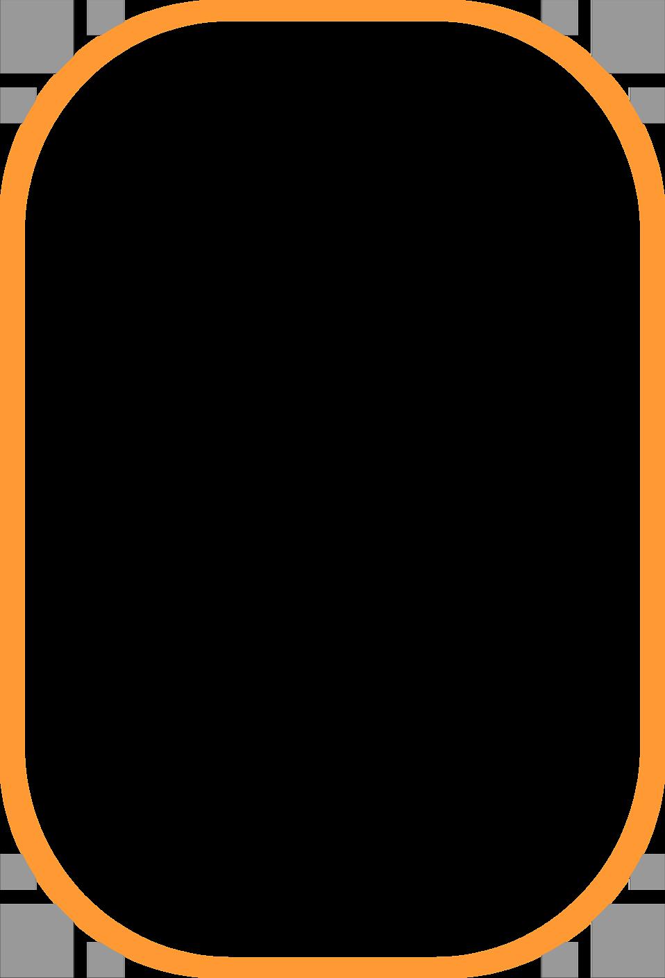 Orange Border Frame Clipart PNG Image