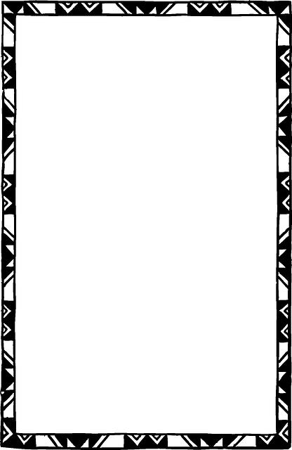 Black Border Frame Clipart PNG Image