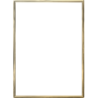 Gold Border Frame Photo PNG Image