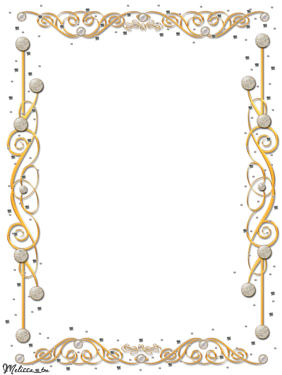 Download Gold Flower Frame Hd HQ PNG Image | FreePNGImg