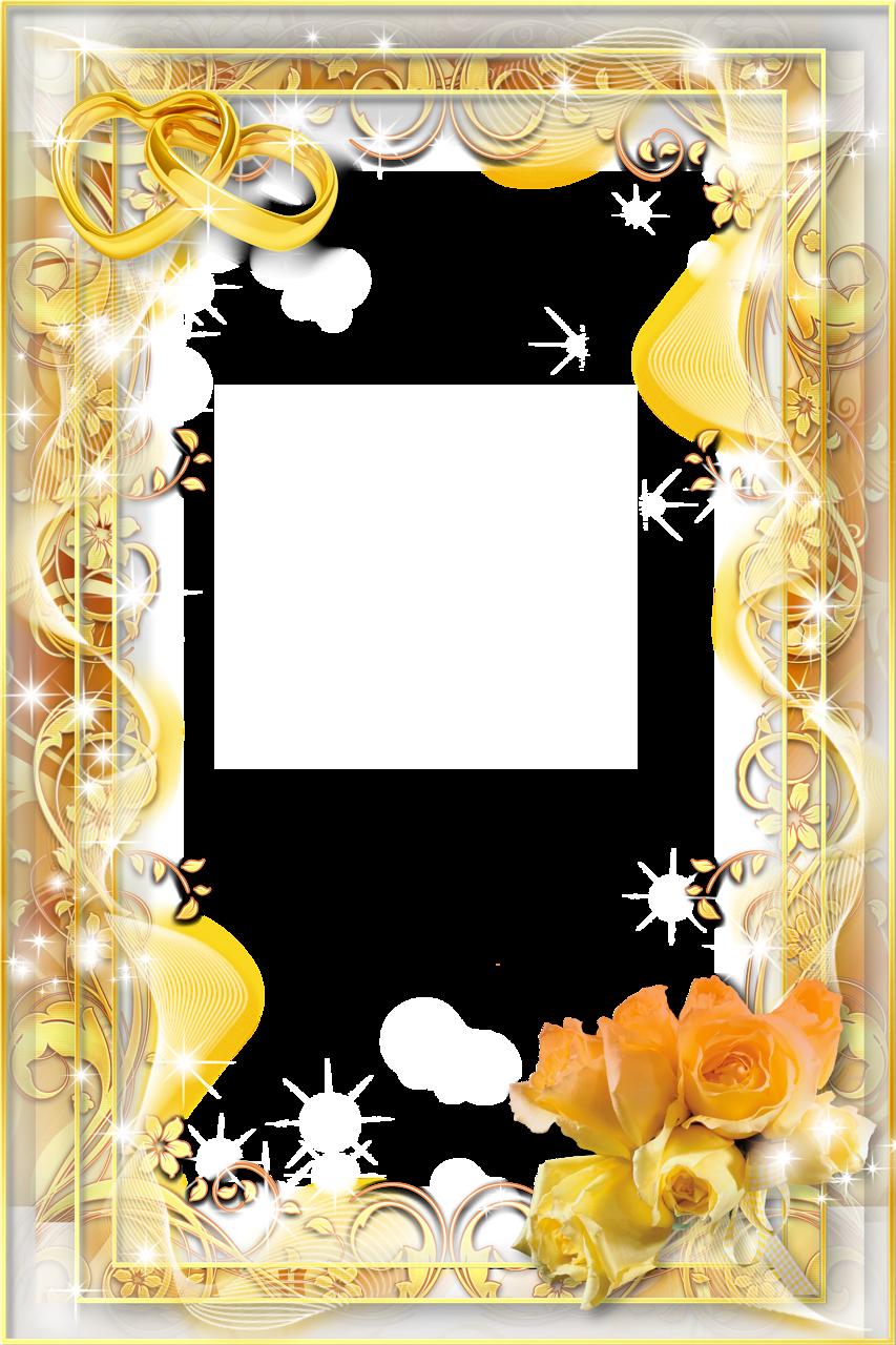 Download Gold Flower Frame Image HQ PNG Image | FreePNGImg