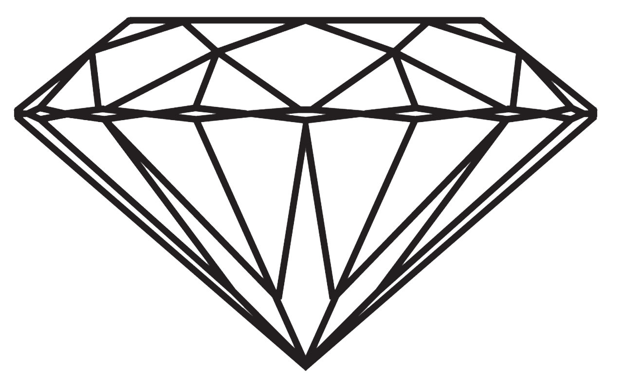 Line Art Diamond : Download diamond free png image hq freepngimg