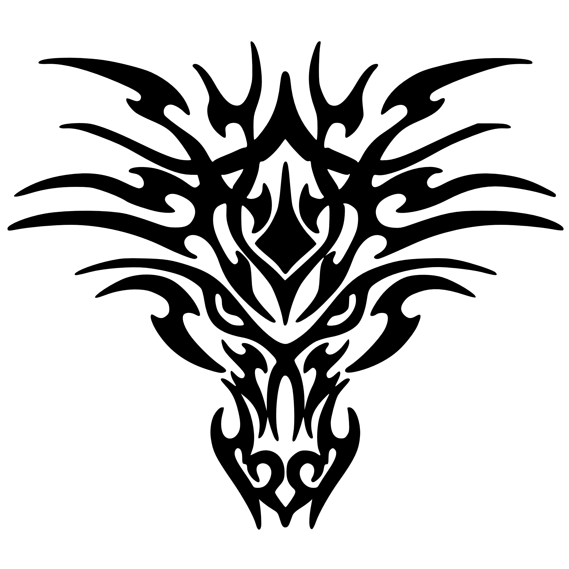 Download Black Tattoo Dragon Png Images HQ PNG Image ...
