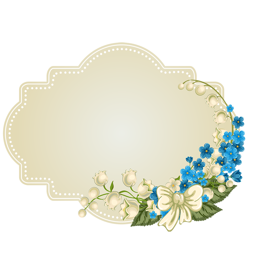 Flower Decoupage Sunday Design Editing Border PNG Image