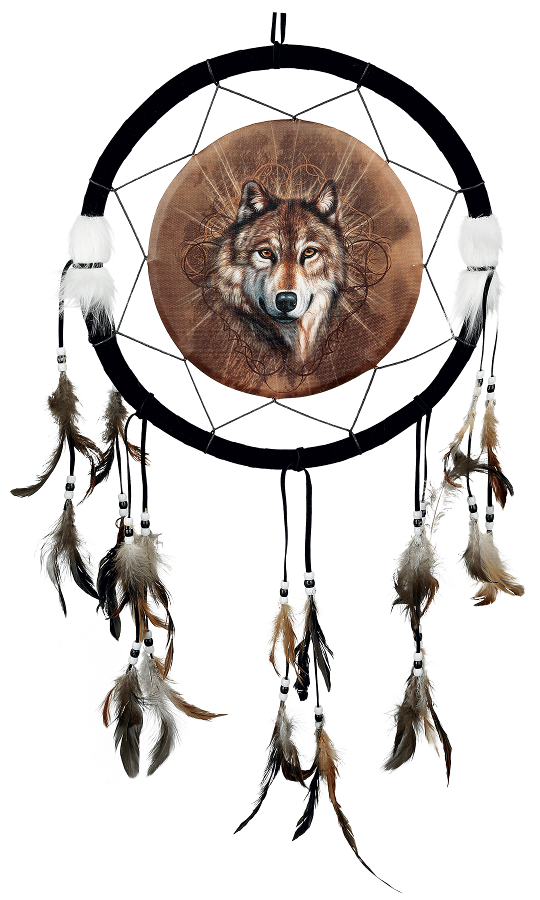 Gray Dreamcatcher Ages Lone Middle Game Wolf PNG Image