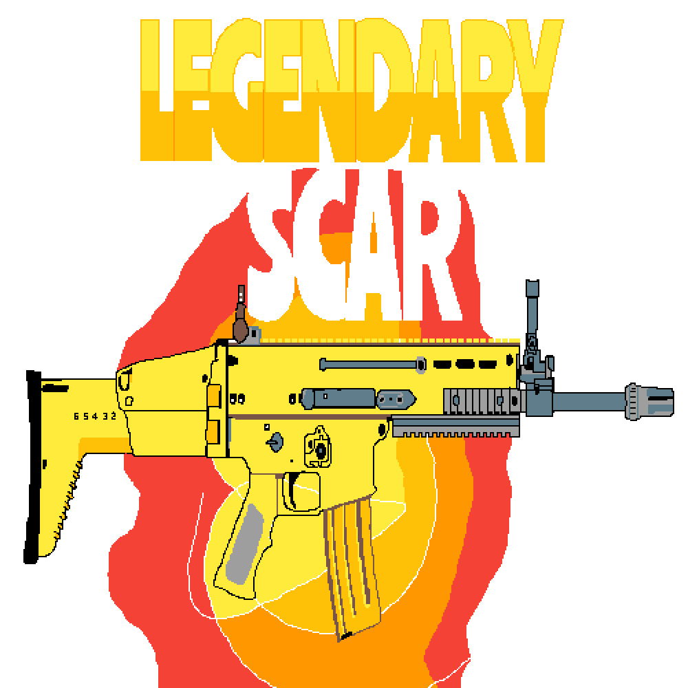 Weapon Yellow Royale Fortnite Battle Drawing PNG Image