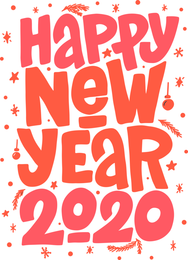 Download New Year 2020 Font Text For Happy Eve Hq Png Image