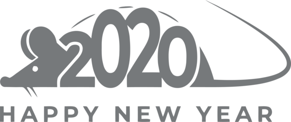 Download New Year 2020 Font Text Logo For Happy Background