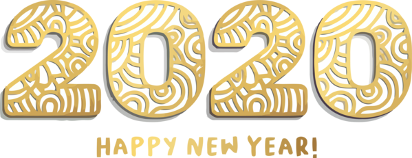 Download New Year 2020 Font Text Number For Happy Holiday Hq