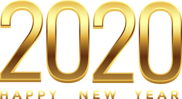 New Year 2020 Text Font Line For Happy Countdown PNG Image