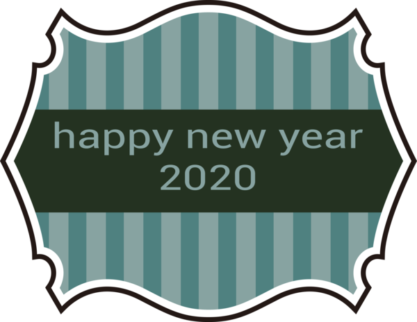 Download New Year Text Label Line For Happy 2020 Gifts Hq