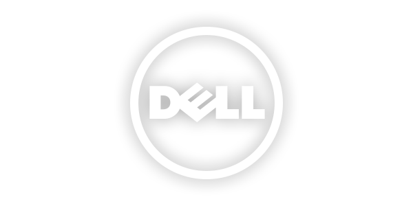 11681 Dell Logo 3d White Png on Fish Clip Art With Transparent Background