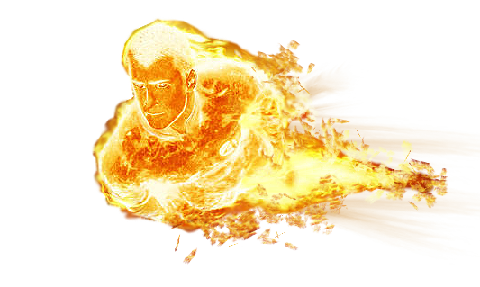 Human Torch Free Download PNG Image