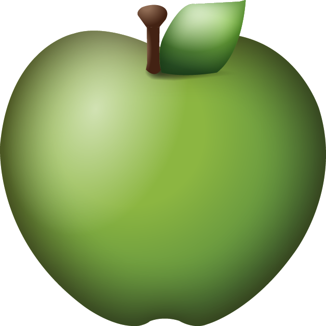 Green Apple Emoji Free Photo Icon PNG Image