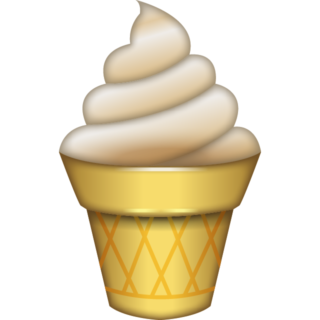 Ice Cream Emoji Icon Free Photo PNG Image
