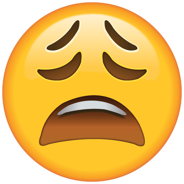 Tired Face Emoji Free Photo Icon PNG Image