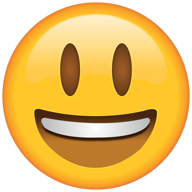 Smiling Emoji with Eyes Opened Free Icon PNG Image
