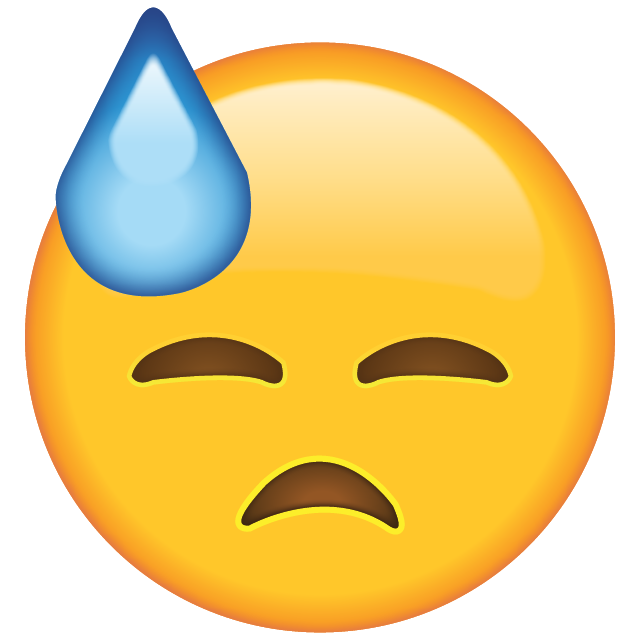 Face with Cold Sweat Emoji Free Icon HQ PNG Image