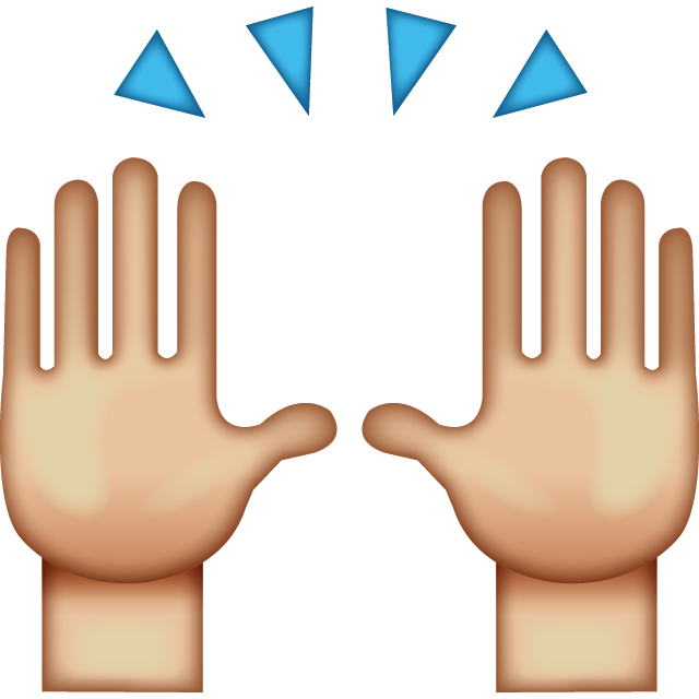 High Five Emoji Free Icon HQ PNG Image