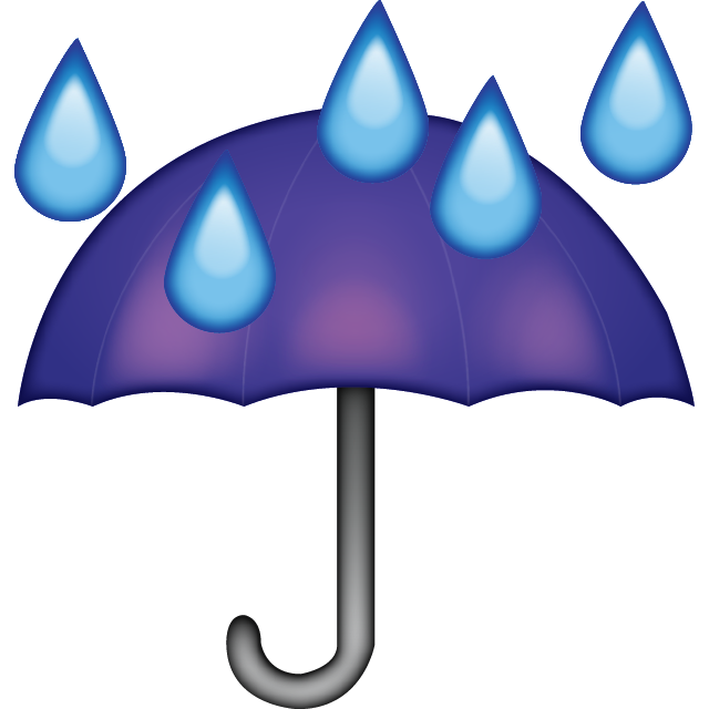 Umbrella Rain Drops Emoji Free Photo Icon PNG Image