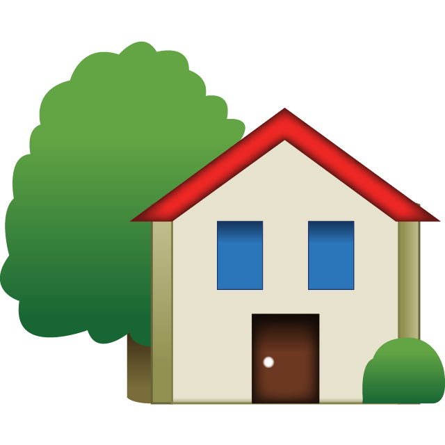 House Emoji With Tree Icon Free Photo PNG Image