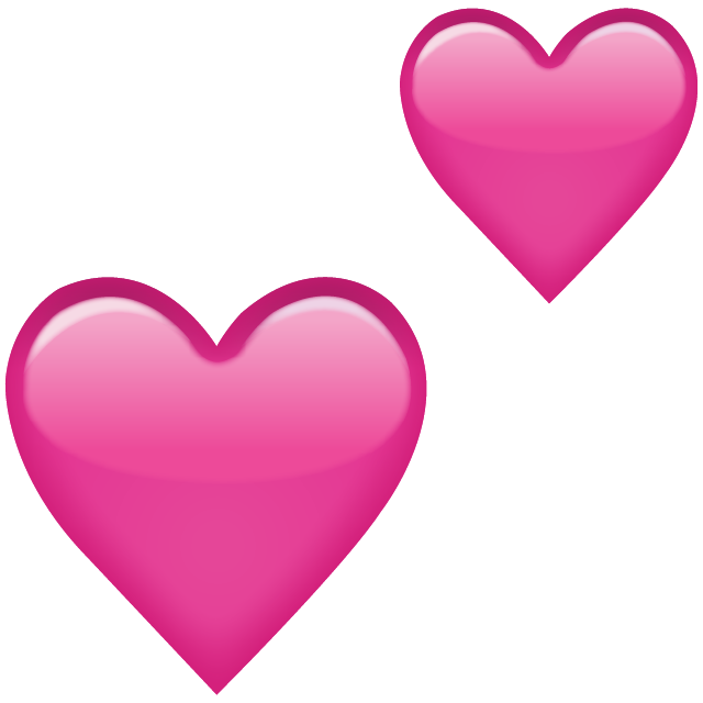 Two Pink Hearts Emoji Icon Download Free PNG Image