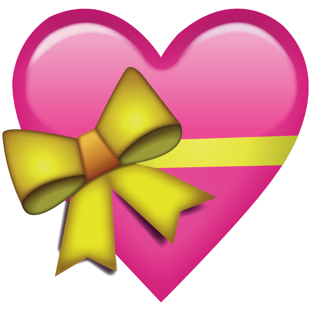 Pink Heart With Ribbon Emoji Free Icon PNG Image