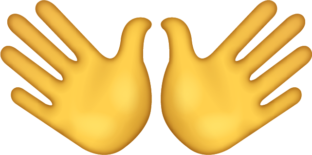 Wide Open Hands Sign Emoji Icon Free Icon HQ PNG Image