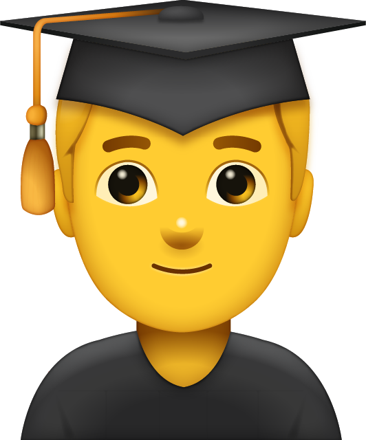 Graduated Man Emoji Free Photo Icon PNG Image