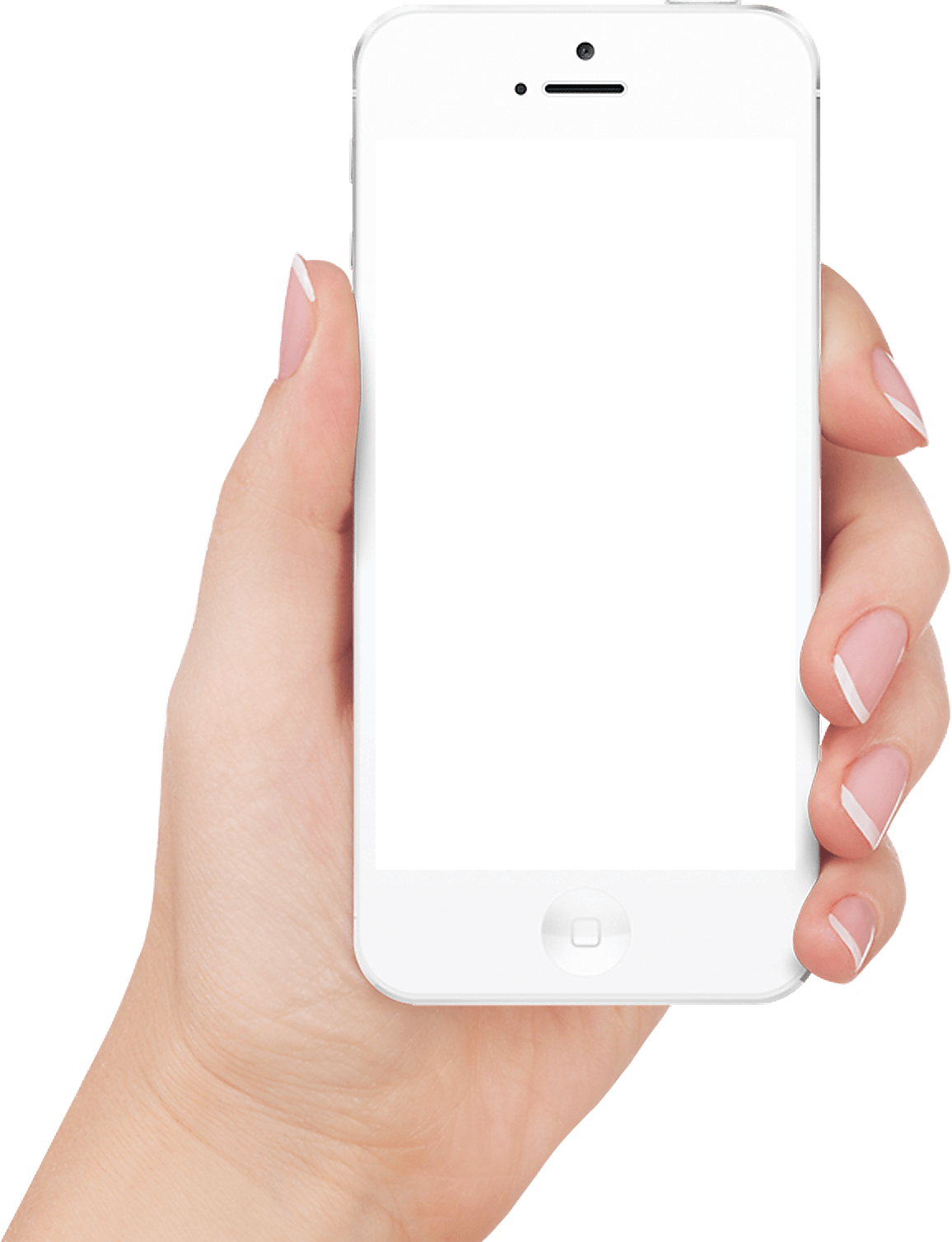 White Iphone In Hand Transparent Png Image PNG Image