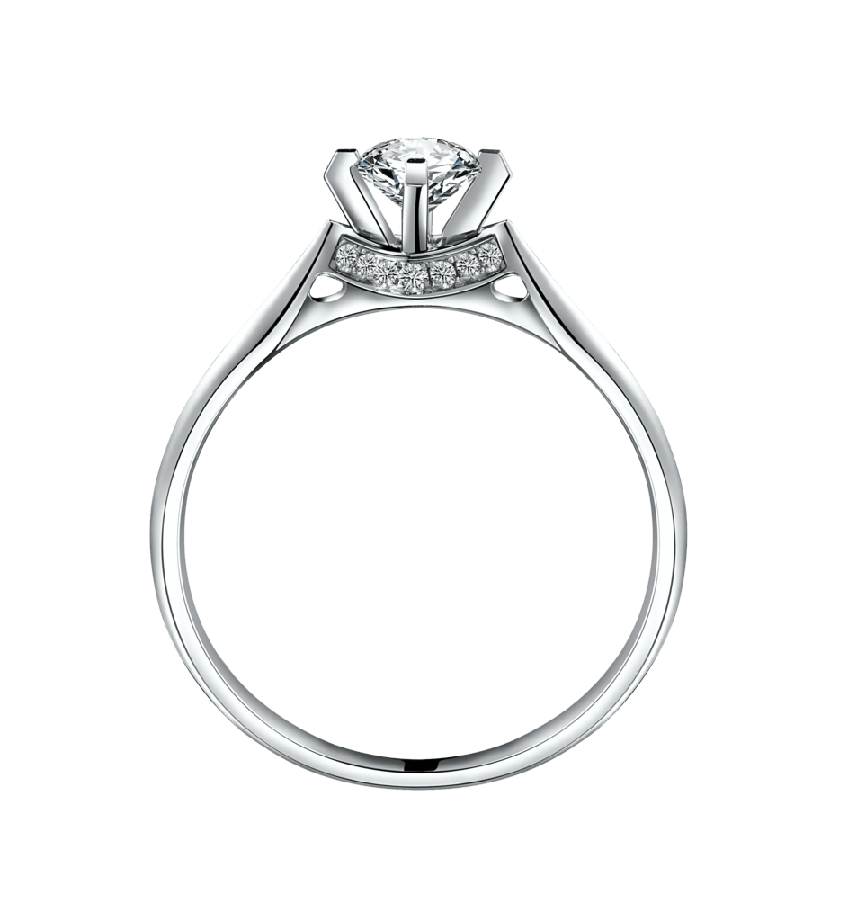 Download Silver Ring With Diamond Png Hq Png Image