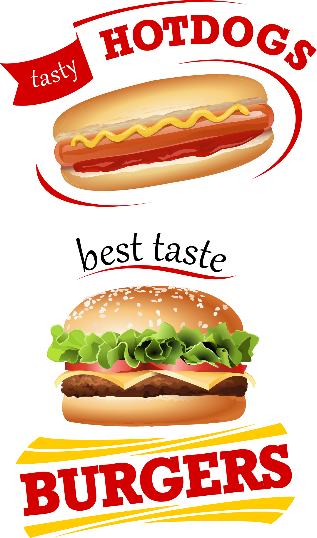 Junk Hamburger Food Cheeseburger Fries French Vector PNG Image