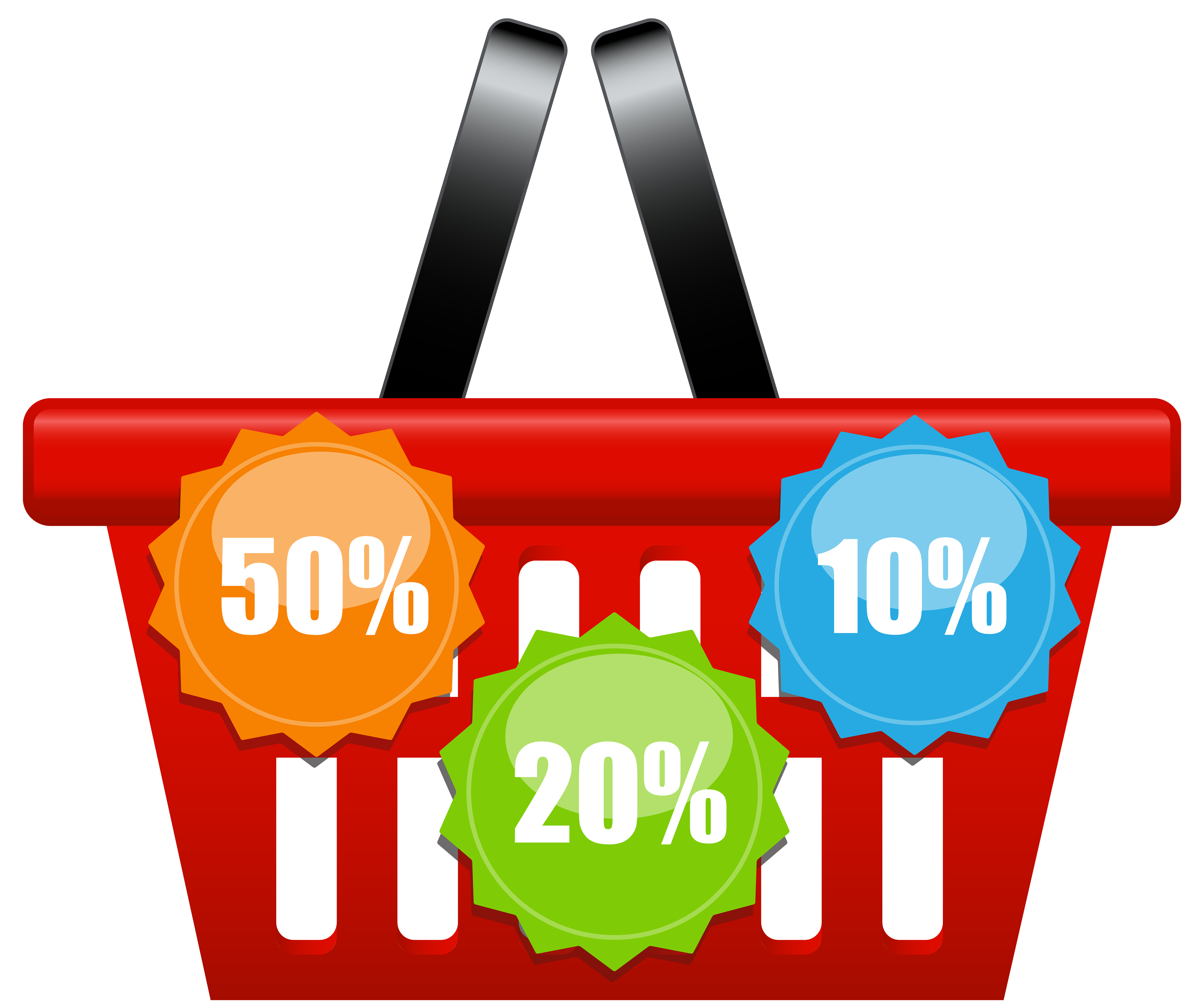 Shopping Icons Cart Discount Basket With PNG Image