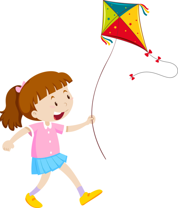 Makar Sankranti Cartoon Child Playing With Kids For Happy Countdown PNG Image