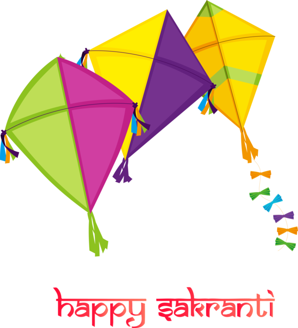 Makar Sankranti Line Kite Triangle For Happy Holiday 2020 PNG Image