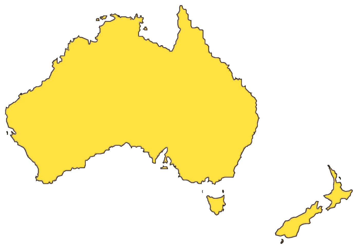 Australia Map File PNG Image