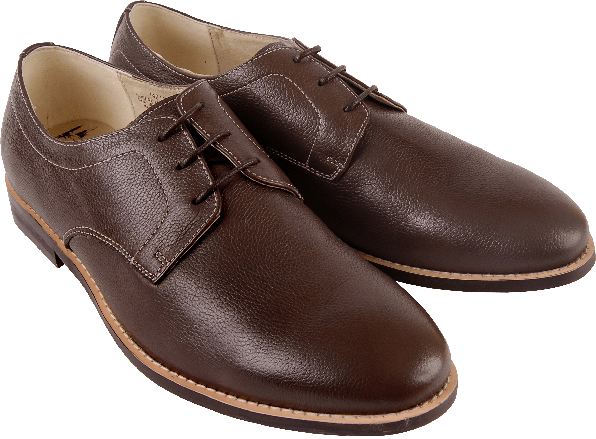 Brown Leather Shoes No Laces